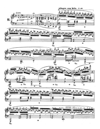 Thumbnail of first page of Op.25, Etude No.11 piano sheet music PDF by Chopin.