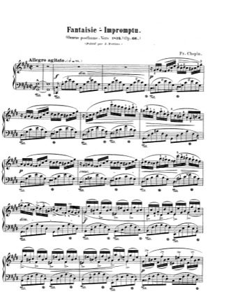 Thumbnail of first page of Fantaisie-Impromptu in c sharp Minor, Op.66 piano sheet music PDF by Chopin.