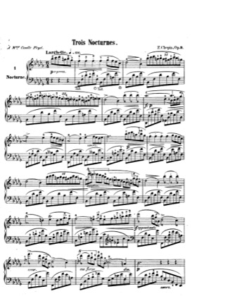 Thumbnail of first page of Nocturnes Op.9 piano sheet music PDF by Chopin.