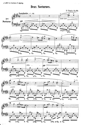 Thumbnail of first page of Nocturnes Op.27 piano sheet music PDF by Chopin.