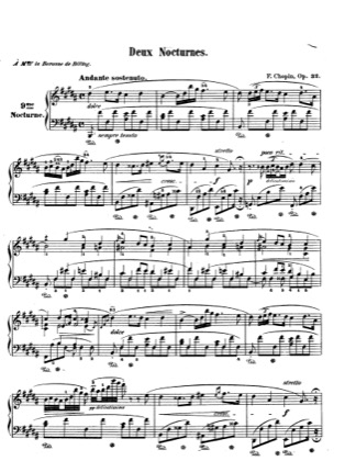 Thumbnail of first page of Nocturnes Op.32 piano sheet music PDF by Chopin.