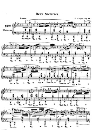 Thumbnail of first page of Nocturnes Op.48 piano sheet music PDF by Chopin.