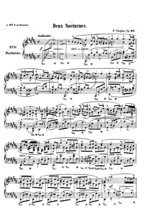 Thumbnail of first page of Nocturnes Op.62 piano sheet music PDF by Chopin.