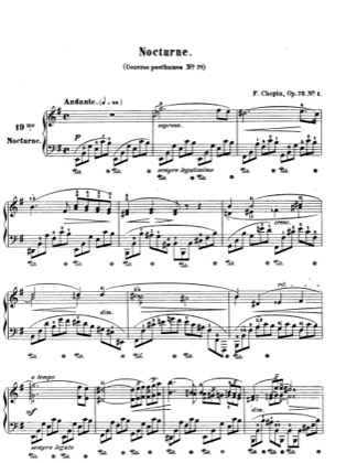 Thumbnail of first page of Nocturne Op.72 No.1 piano sheet music PDF by Chopin.