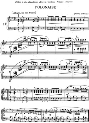 Thumbnail of first page of Polonaise in G minor piano sheet music PDF by Chopin.