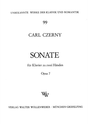 Thumbnail of first page of Sonata No.1 in A flat major, Op.7 piano sheet music PDF by Czerny.