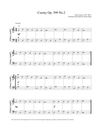 Thumbnail of first page of Op.599 n.2 piano sheet music PDF by Czerny.