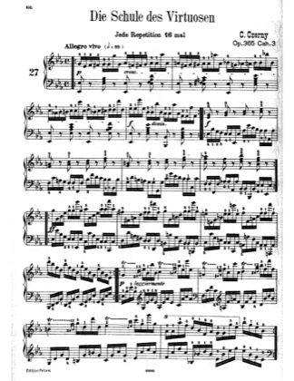Thumbnail of first page of Book No.3: Etudes Nos.27-44 piano sheet music PDF by Czerny.