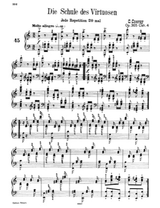 Thumbnail of first page of Book No.4: Etudes Nos.45-60 piano sheet music PDF by Czerny.
