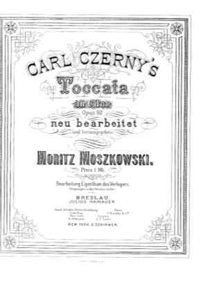 Thumbnail of first page of Toccata, Op.92 piano sheet music PDF by Czerny.