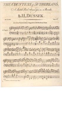 Thumbnail of first page of The Countess of Sutherland piano sheet music PDF by Dussek.