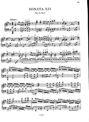 Thumbnail of first page of Sonata No.12, Op.35 No.2 piano sheet music PDF by Dussek.