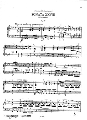 Thumbnail of first page of Sonata No.28, Op.77 piano sheet music PDF by Dussek.