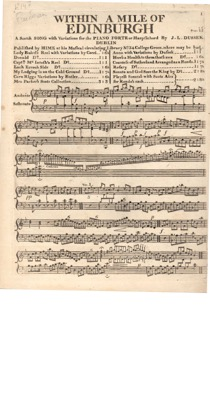 Thumbnail of first page of Within a Mile of Edinburgh piano sheet music PDF by Dussek.