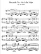 Thumbnail of First Page of Barcarolle No.4, Op.44 sheet music by Faure