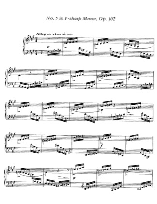 Thumbnail of first page of Impromptu No.5, Op.102 piano sheet music PDF by Faure.