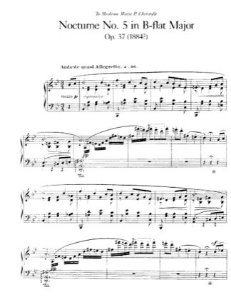 Thumbnail of first page of Nocturne No.5, Op.37 piano sheet music PDF by Faure.