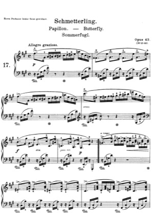 Thumbnail of first page of Lyric Pieces, Op.43 piano sheet music PDF by Grieg.