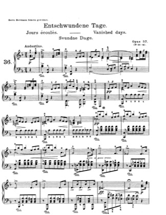 Thumbnail of first page of Lyric Pieces, Op.57 piano sheet music PDF by Grieg.