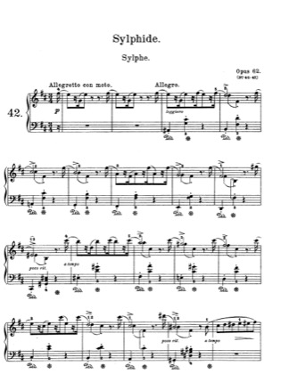 Thumbnail of first page of Lyric Pieces, Op.62 piano sheet music PDF by Grieg.