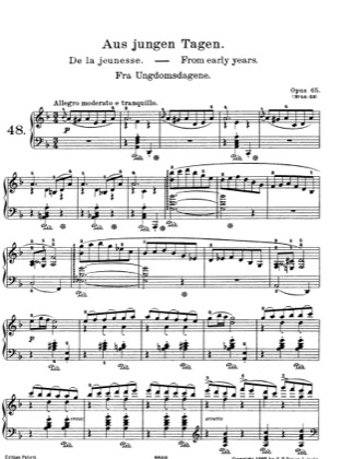 Thumbnail of first page of Lyric Pieces, Op.65 piano sheet music PDF by Grieg.