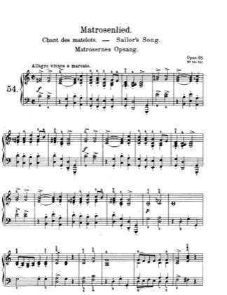 Thumbnail of first page of Lyric Pieces, Op.68 piano sheet music PDF by Grieg.