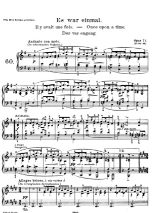 Thumbnail of first page of Lyric Pieces, Op.71 piano sheet music PDF by Grieg.