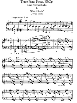 Thumbnail of first page of 3 Piano Pieces, EG110-112 piano sheet music PDF by Grieg.