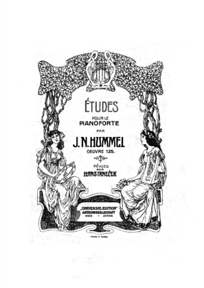 Thumbnail of first page of Etudes, Op.125 piano sheet music PDF by Hummel.