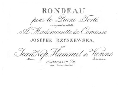 Thumbnail of first page of Rondo, Op.11 piano sheet music PDF by Hummel.