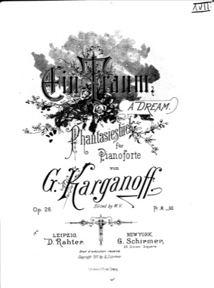 Print and download for free: Ein Traum, Op.26 piano sheet music by Korganov.