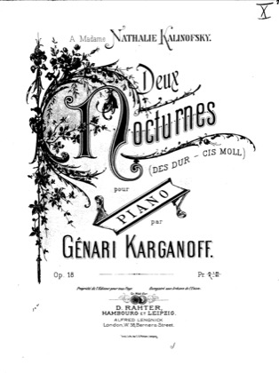 Thumbnail of first page of 2 Nocturnes, Op.18 piano sheet music PDF by Korganov.