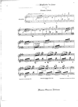 Thumbnail of first page of Mephisto Waltz No.2, S.515 piano sheet music PDF by Liszt.
