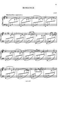 Thumbnail of first page of Romance, S.169 piano sheet music PDF by Liszt.