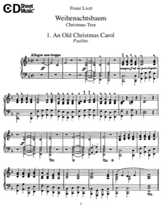 Thumbnail of first page of Weihnachtsbaum, S.186 piano sheet music PDF by Liszt.