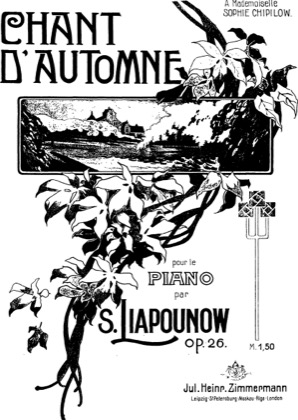Thumbnail of first page of Chant d'Automne, Op.26 piano sheet music PDF by Lyapunov.