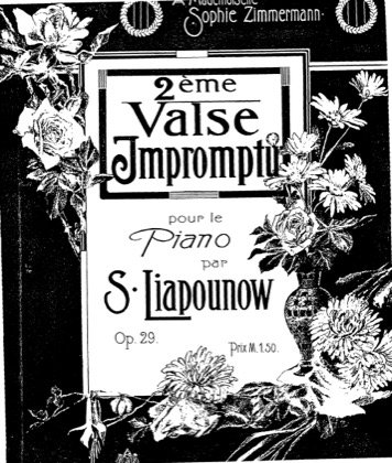 Thumbnail of first page of Valse-Impromptu No.2, Op.29 piano sheet music PDF by Lyapunov.