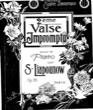Thumbnail of First Page of Valse-Impromptu No.2, Op.29 sheet music by Lyapunov