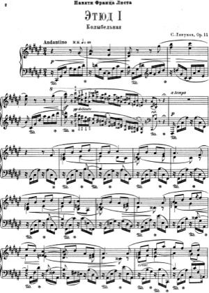 Thumbnail of first page of 12 Etudes d'Execution Transcendante, Op.11 piano sheet music PDF by Lyapunov.