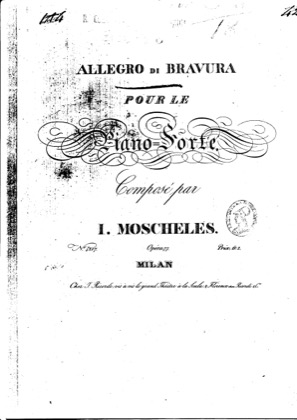 Thumbnail of first page of Allegro di Bravura, Op.77 piano sheet music PDF by Moscheles.