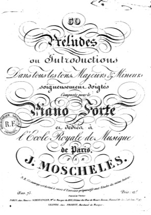 Thumbnail of first page of 50 Preludes Op.73 piano sheet music PDF by Moscheles.