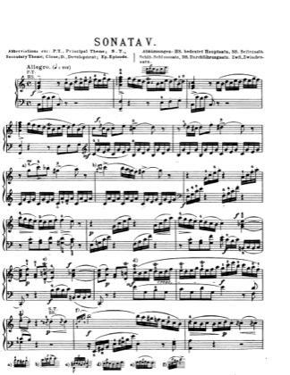 Thumbnail of first page of Piano Sonata in C major, K.279 piano sheet music PDF by Mozart.