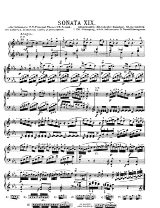 Thumbnail of first page of Piano Sonata in E flat major, K.282 piano sheet music PDF by Mozart.