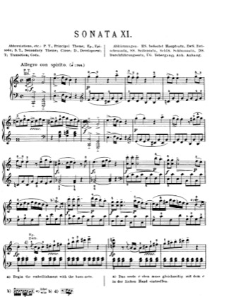 Thumbnail of first page of Piano Sonata in C major, K.309 piano sheet music PDF by Mozart.