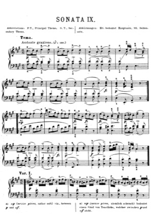 Thumbnail of first page of Piano Sonata in A major, K.331 piano sheet music PDF by Mozart.