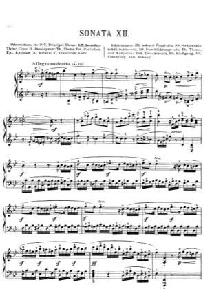 Thumbnail of first page of Piano Sonata in B flat major, K.498a piano sheet music PDF by Mozart.