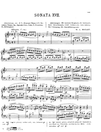Thumbnail of first page of Piano Sonata in F major, K.533 piano sheet music PDF by Mozart.
