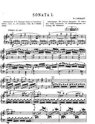 Thumbnail of first page of Piano Sonata in C major, K.545 piano sheet music PDF by Mozart.