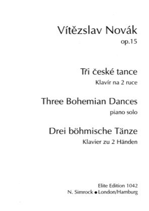 Thumbnail of first page of 3 Bohemian Dances piano sheet music PDF by Novak.
