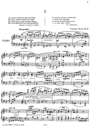 Thumbnail of first page of Eklogen, Op.11 piano sheet music PDF by Novak.